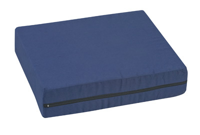 Pincore Wheelchair Cushion 16x 18x4 Poly/cotton Cover Navy